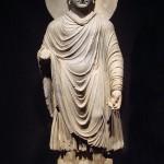 Греко-буддийская статуя Будды I—II века, Гандхара.