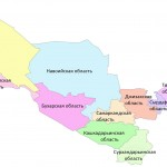 Политико-административная карта Узбекистана