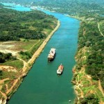 Панамский канал. (фотография) с высоты птичьего полёта