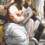 Пифагор на фреске. Афинская школа. Автор - Рафаэль Санти