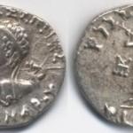Серебрянная драхма царя Менандра I.
