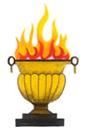 Сосуд с огнем - символ зороастризма