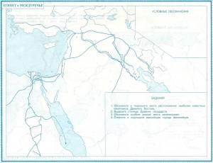 Египет и Междуречье (контурная карта)