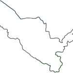 Контур границ Республики Узбекистан