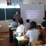На уроке у Хасана Марифовича Кучкарова, школа №142.