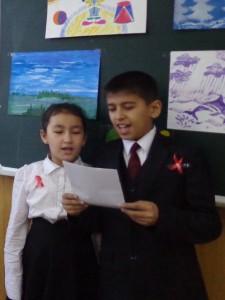 Бехруз Алишеров и Хилола Алишерова читают стихотворение