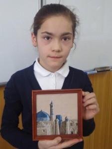"""Азиза Абдунабиева (5 """"В"""") Рисунок. Хива"""