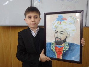 "Лазиз Тахиров (5 ""Б"") Портрет Бабура"