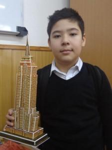 "Назар Таджиев (5 ""Д"") Empire State Building, Нью Йорк, США"