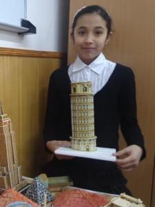 """Сабина Солиева (5 """"Д"""") Пизанская башня"""