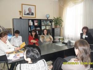 Директор с завучами школы №50 перед встречей с гостями