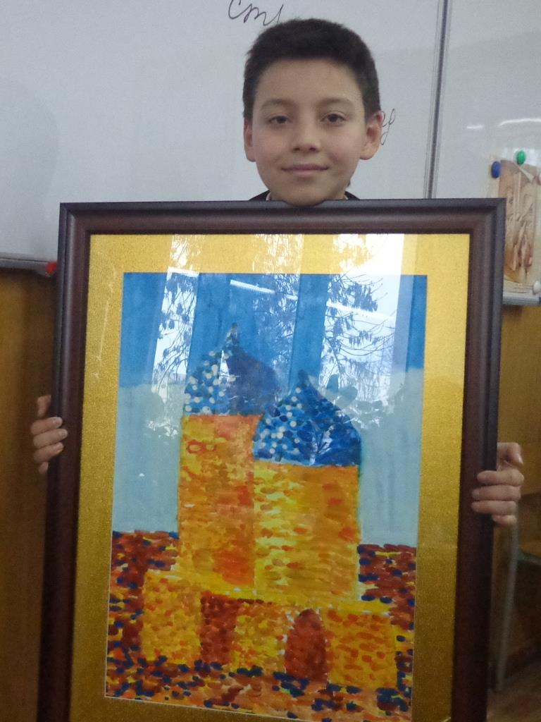 "Саидамирхон Махмудов (5 ""Г"") Картина ""Минареты"""