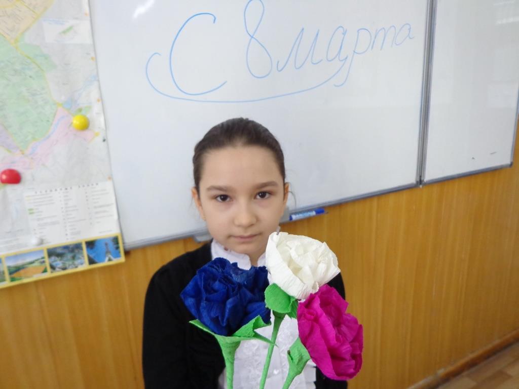 """Даната Абдукадырова (5 """"Г"""") Весенние цветы"""