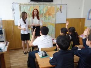 """Гулям Али Садаф и Мухтарова Диана (9 """"В"""") в 5 """"Г"""" классе"""