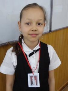 """Эвелина Исмагилова (5 """"Д"""") Награда """"Клио"""""""