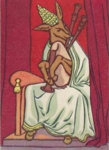 """Карикатура немецкого художника XVI века - """"Папа умеет толковать библию не лучше, чем осел играет на дуде и понимает ноты"""""""