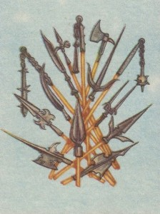 Образцы вооружения средневековых воинов