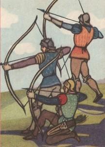 Английские лучники времен Столетней войны