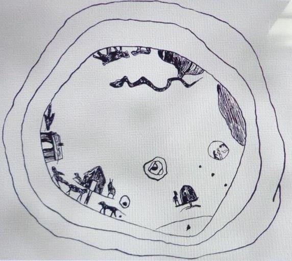 Карта мира чукчей. Рисунок. Нач XX в.
