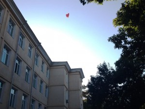Воздушное сердце для учителей школы №50
